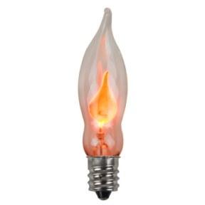 C7 Transparent Flicker Flame Bulb