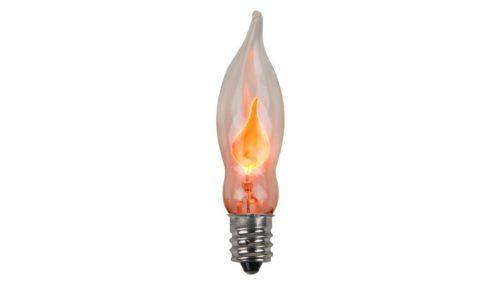 C7 Incandescent Transparent Flicker Flame Bulb
