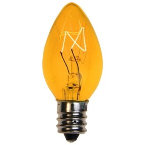 C7 Transparent Yellow Replacement Bulb