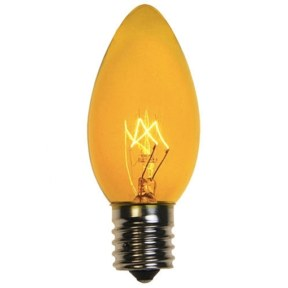 C9 Transparent Yellow Replacement Bulb