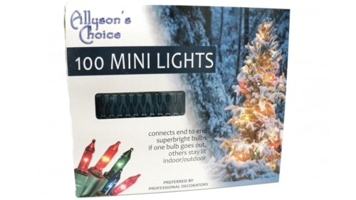Allysons Choice Incandescent Teal Mini Christmas Lights 100 Count