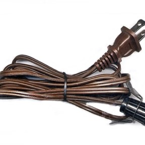 C7 Blow Mold Light Cord Brown Wire Black Socket Metal Clip