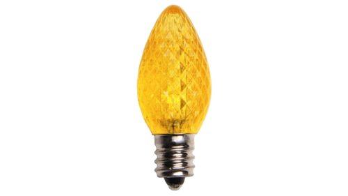 C7 LED Retrofit Yellow Steady Burn Bulb