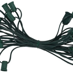 C7 25-Foot Light String Green Wire