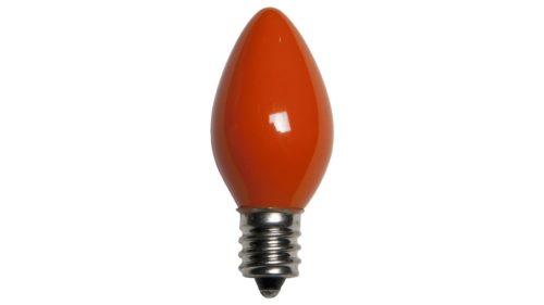 C7 Incandescent Opaque Orange Replacement Bulb