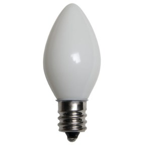 C7 Incandescent Opaque White Replacement Bulb
