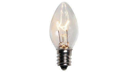 C7 Incandescent Transparent Clear Replacement Bulb