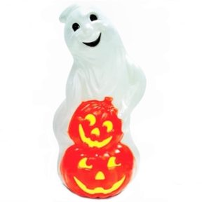Grand Venture Ghost with Pumpkins Halloween Blow Mold