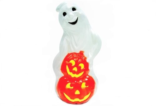 Grand Venture Ghost with Pumpkins Halloween Blow Mold