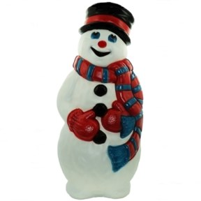 Grand Venture Snowman with Scarf Christmas Blow Mold
