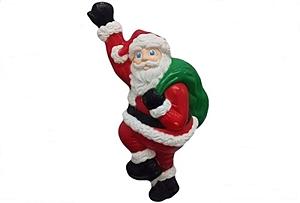 Grand Venture Climbing Santa Christmas Blowmold