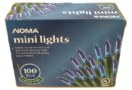 Noma Blue Mini Lights 100 Count Green Wire