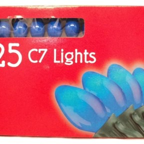 Noma C7 Opaque Blue Christmas Lights