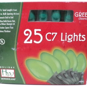 Noma C7 Opaque Green Christmas Lights