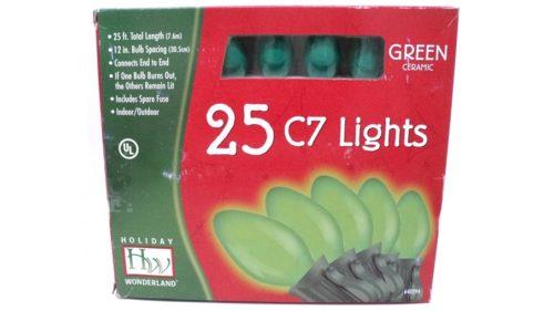 Noma C7 Opaque Green Christmas Lights