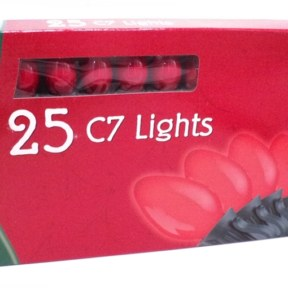 Noma C7 Opaque Red Christmas Lights