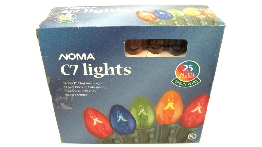Noma C7 Transparent Multi Color Christmas Lights