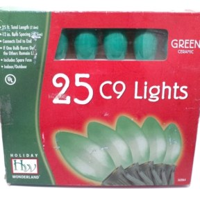 Noma C9 Opaque Green Christmas Lights