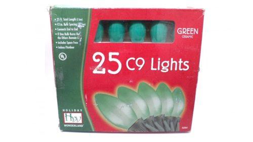 Noma C9 Opaque Green Christmas Lights