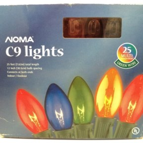 Noma C9 Transparent Multi Color Christmas Lights