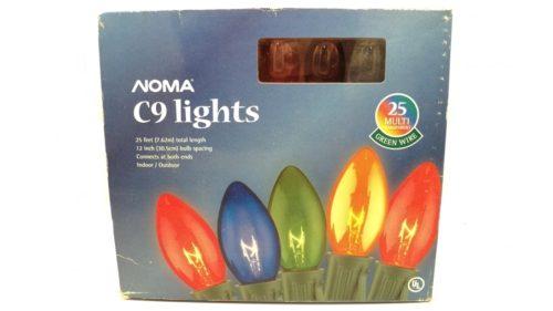 Noma C9 Transparent Multi Color Christmas Lights