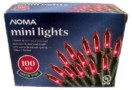 Noma Red Mini Lights 100 Count Green Wire