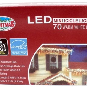 LED Warm White Icicle Lights