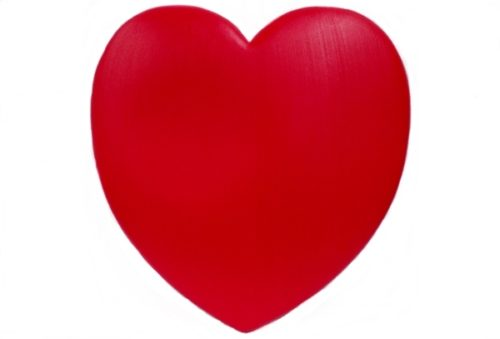 Front View Union Products Unlighted Red Valentine Heart Blow Mold
