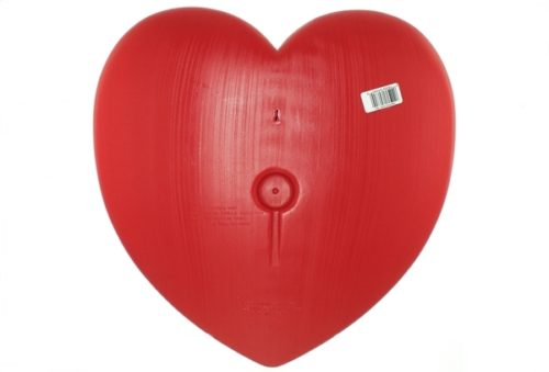 Rear View Union Products Unlighted Red Valentine Heart Blow Mold