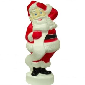 Union Products Santa with List Christmas Blow Mold