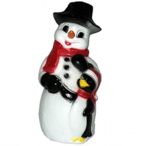Union Products Snowman with Penguin Christmas Blow Mold