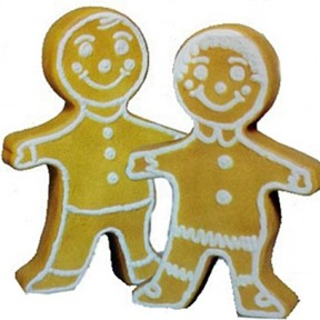 Union Products Gingerbread Boy and Girl Christmas Blow Mold