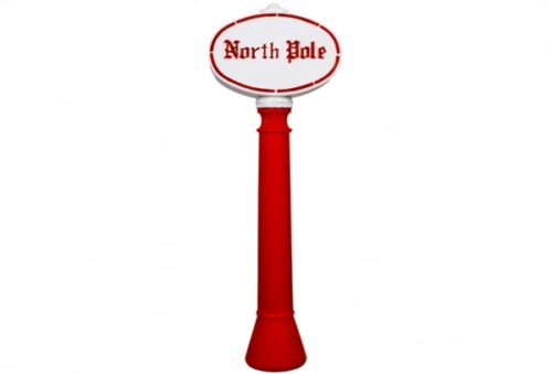 Union Products North Pole Sign Christmas Blow Mold